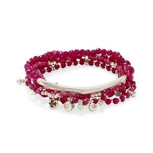 AUTH. Kendra Scott Supak Rose Beaded Bracelet Set